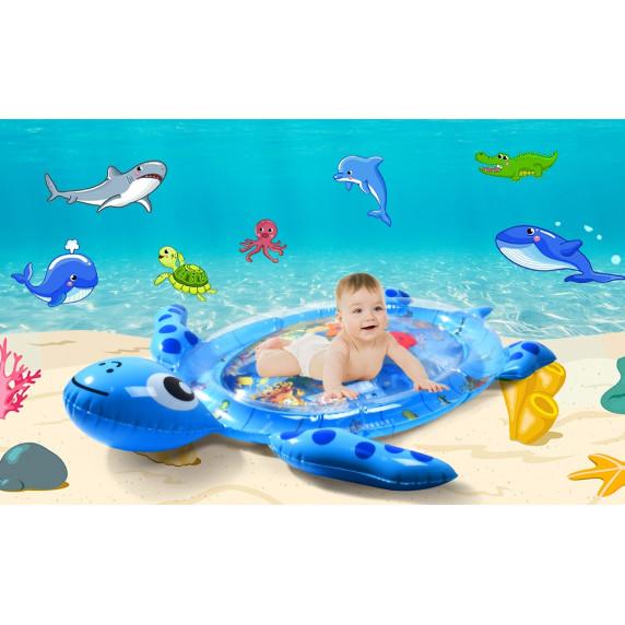 Dětská nafukovací vodní podložka MRWM05 Aga4Kids - želva modrá