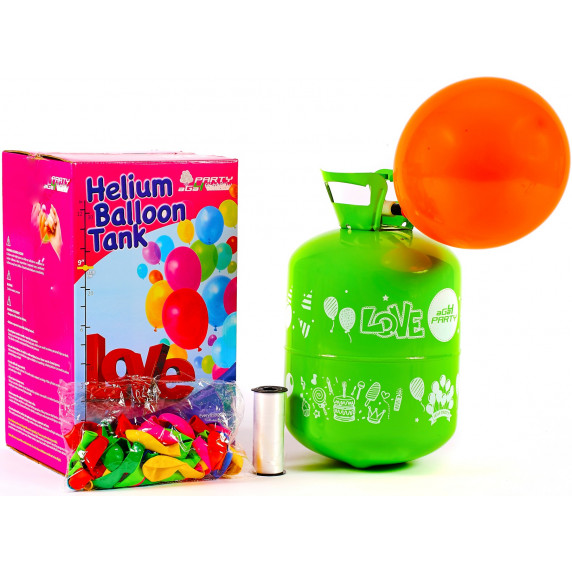 Aga4Kids Helium do balónků PARTY 20 MIX Green/Blue