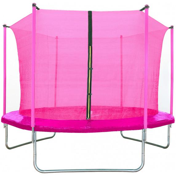 Aga SPORT FIT Trampolína 180 cm Pink s vnútornou ochrannou sieťou