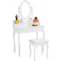 Toaletní stolek se zrcadlem + taburetem  Aga MRDT03