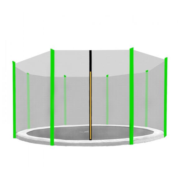 Aga Ochranná síť 366 cm na 8 tyčí Black net / Light green