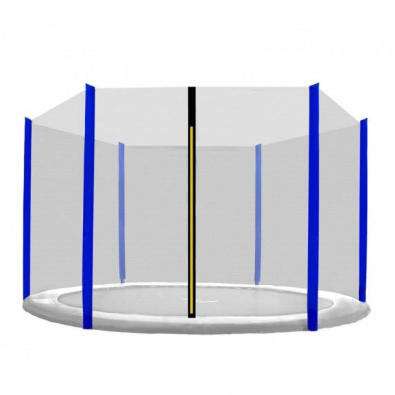 Ochranná síť na trampolínu 305 cm na 6 tyčí SPARTAN - Blue