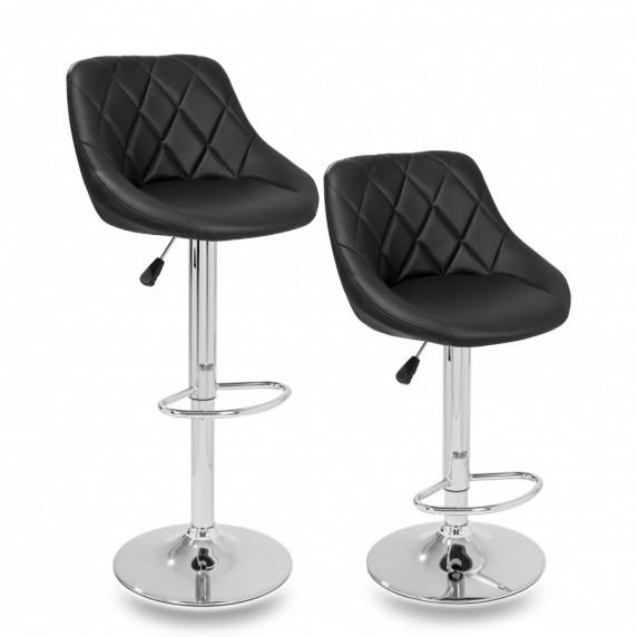 Aga Barová židle 2 kusy MR2000BLACK - Černá