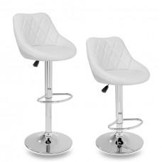 Aga Barová židle 2 kusy MR2000WHITE - Bílá Preview