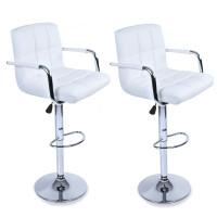 Aga Barová židle s područkami 2 kusy MR2010WHITE White