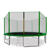 Trampolína AGA SPORT PRO 430/427 cm s ochrannou sieťou Green