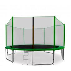 Trampolína AGA SPORT PRO 430/427 cm s ochrannou sieťou Green Preview