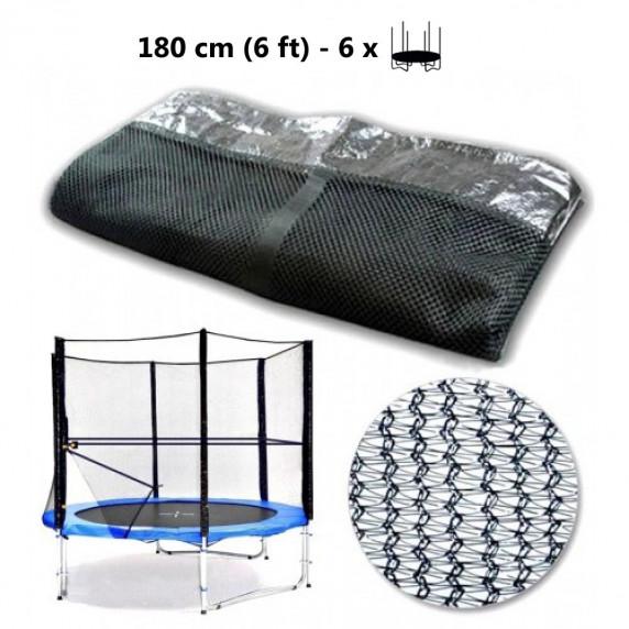 Ochranná síť na trampolínu 180 cm na 6 tyčí