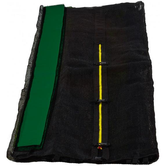 Ochranná síť na trampolínu 250 cm na 6 tyčí - Black net / Dark Green