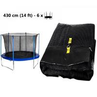AGA vnitřní ochranná síť na trampolínu s celkovým průměrem 430 cm na 6 tyčí