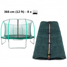 AGA vnitřní ochranná síť na trampolínu s celkovým průměrem 366 cm na 8 tyčí (kruh) - tmavozelená Preview