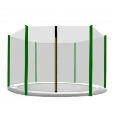 Ochranná síť na trampolínu 250 cm na 6 tyčí - Black net / Dark Green Preview