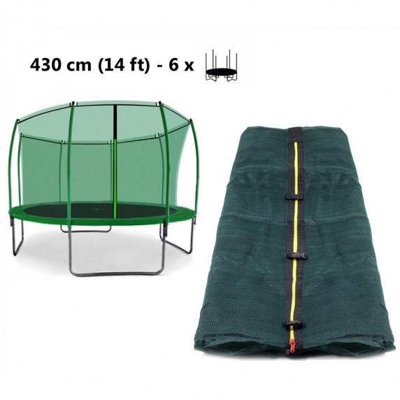 Aga Vnitřní ochranná síť 430 cm na 6 tyčí - tmavě zelená (kruh)
