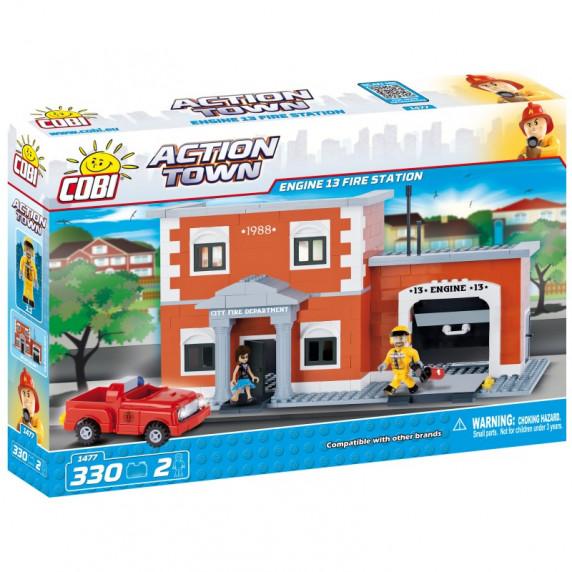 COBI 1477 Action Town Hasičská zbrojnice