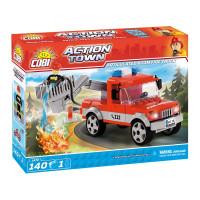 COBI 1479 Action Town Hasičské auto so zdvíhacím košíkom