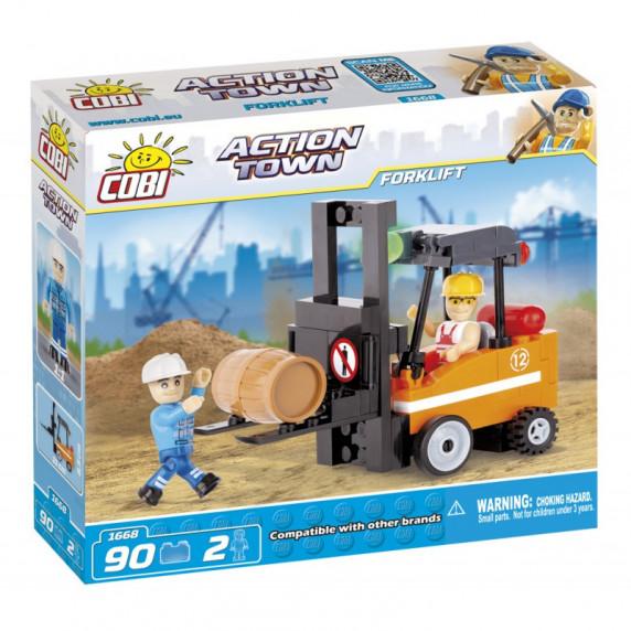COBI 1668 Action Town Vysokozdvižný vozík
