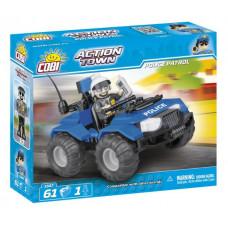 COBI 1547 Action Town Policejní hlídka ATV 61 ks Preview