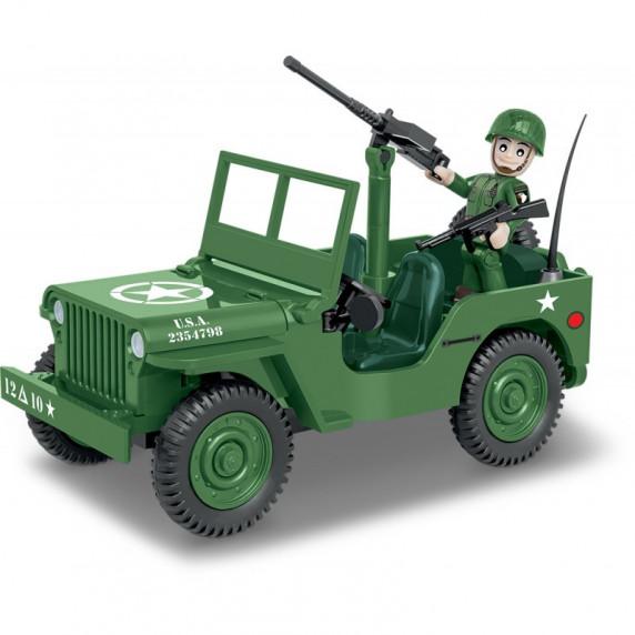 COBI 2399 SMALL ARMY World War II Americký terénní automobil Willys MB 1/4