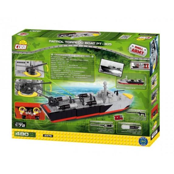 COBI 2376 SMALL ARMY II WW Torpédoborec PT-305, 1:72, 480 ks