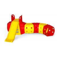 Skluzavka s tunelem Inlea4Fun - žluto-červená