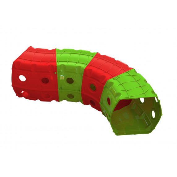 Hrací tunel 153 x 109 x 51 cm Inlea4Fun - červeno-zelený