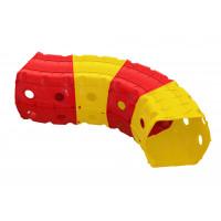 Hrací tunel 153 x 109 x 51 cm Inlea4Fun - červeno-žlutý