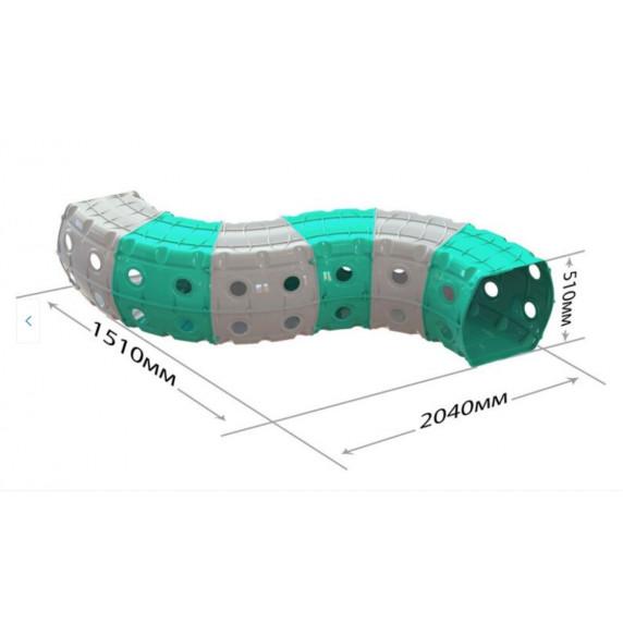 Hrací tunel 240 x 151 x 51 cm Inlea4Fun - tyrkysovo-šedý