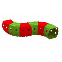Hrací tunel 240 x 151 x 51 cm Inlea4Fun - zeleno-červený