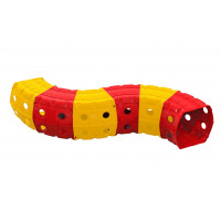 Hrací tunel 240 x 151 x 51 cm Inlea4Fun - červeno-žlutý