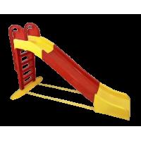 Skluzavka s držadlem 243 cm Inlea4Fun - červeno-žlutá