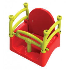 Dětská houpačka s ohrádkou 3 v 1 Inlea4Fun  - červená Preview