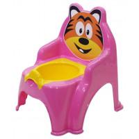 Detský nočník ve tvaru stoličky Tiger Inlea4Fun - růžový