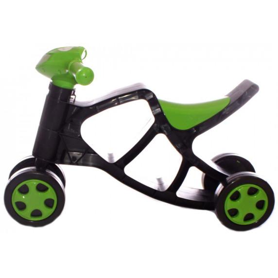 Dětské odrážedlo motorka Inlea4Fun - černé/zelené