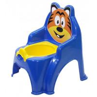 Detský nočník ve tvaru stoličky Tiger Inlea4Fun - modrý
