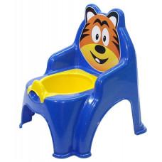 Detský nočník ve tvaru stoličky Tiger Inlea4Fun - modrý Preview