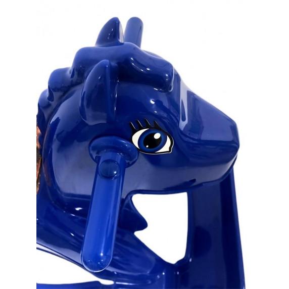 Houpací koník plastový Inlea4Fun - modrý