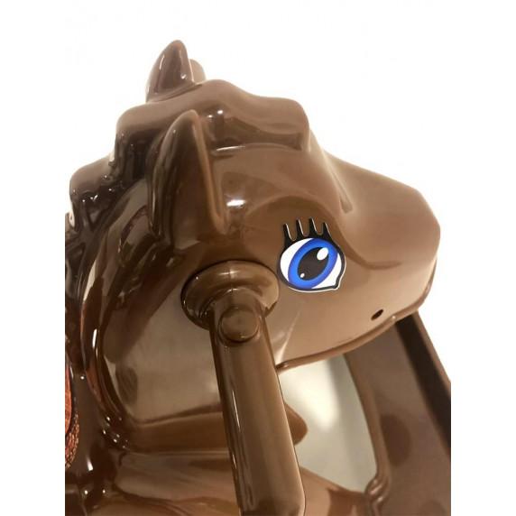 Houpací koník plastový Inlea4Fun - hnědý