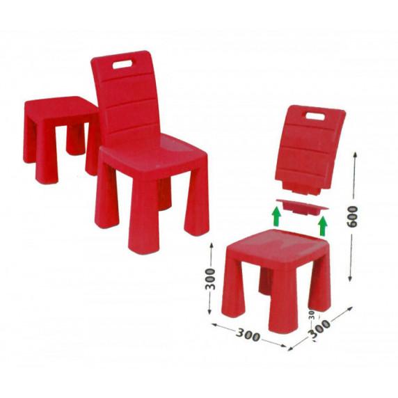 Umělohmotná židlička Inlea4Fun EMMA - červená