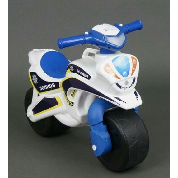 Dětské odrážedlo motorka Inlea4Fun POLICIE - bílé/modré
