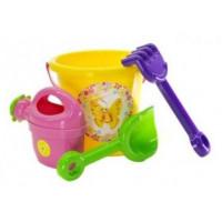Souprava do pískoviště s kbelíkem a doplňky Inlea4Fun - žlutá
