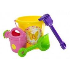 Souprava do pískoviště s kbelíkem a doplňky Inlea4Fun - žlutá Preview