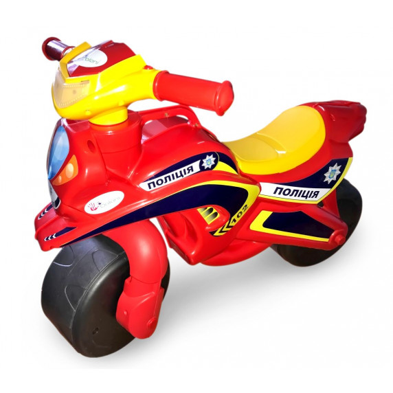Dětské odrážedlo motorka Inlea4Fun POLICIE - červené/žluté