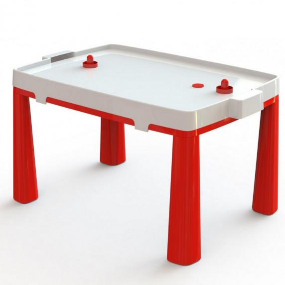 Umělohmotný dětský stolík se vzdušným hokejem Inlea4Fun EMMA - červený