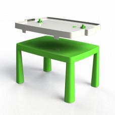 Umělohmotný dětský stolík se vzdušným hokejem Inlea4Fun EMMA - zelený Preview