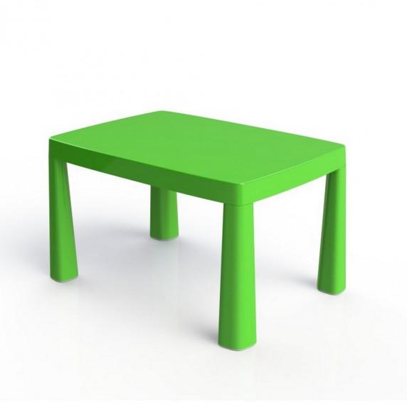 Umělohmotný dětský stolík se vzdušným hokejem Inlea4Fun EMMA - zelený