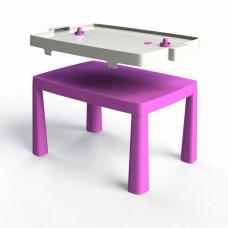 Umělohmotný dětský stolík se vzdušným hokejem Inlea4Fun EMMA - růžový Preview