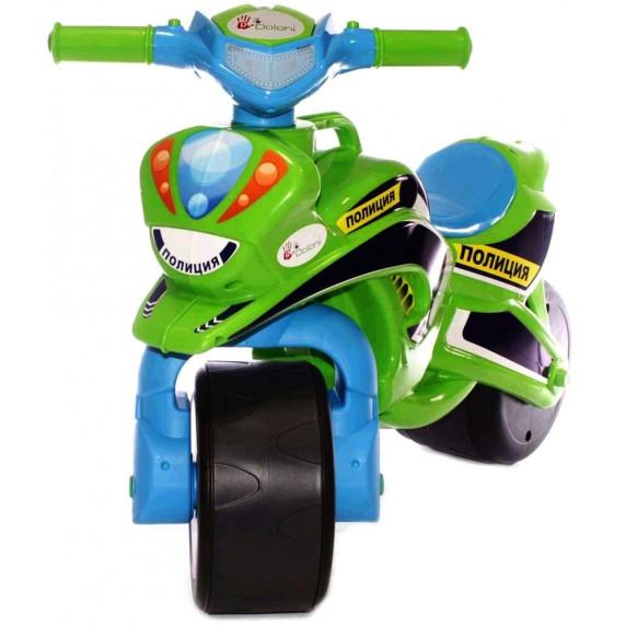 Dětské odrážedlo motorka Inlea4Fun POLICIE - zelená/modrá