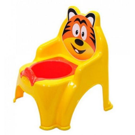 Detský nočník ve tvaru stoličky Tiger Inlea4Fun - žlutý