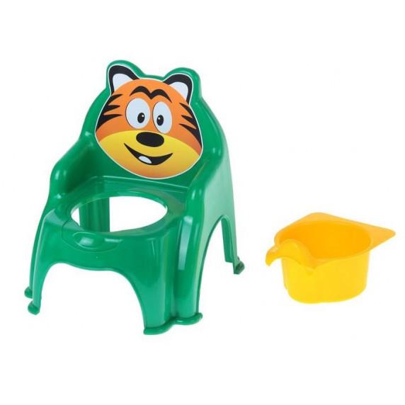 Detský nočník ve tvaru stoličky Tiger Inlea4Fun - zelený