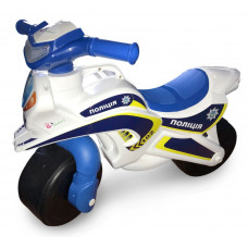 Dětské odrážedlo motorka Inlea4Fun POLICIE - bílé/modré Preview
